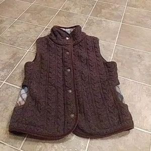 Woman's PENDLETON Petite Lambs Wool VEST Medium